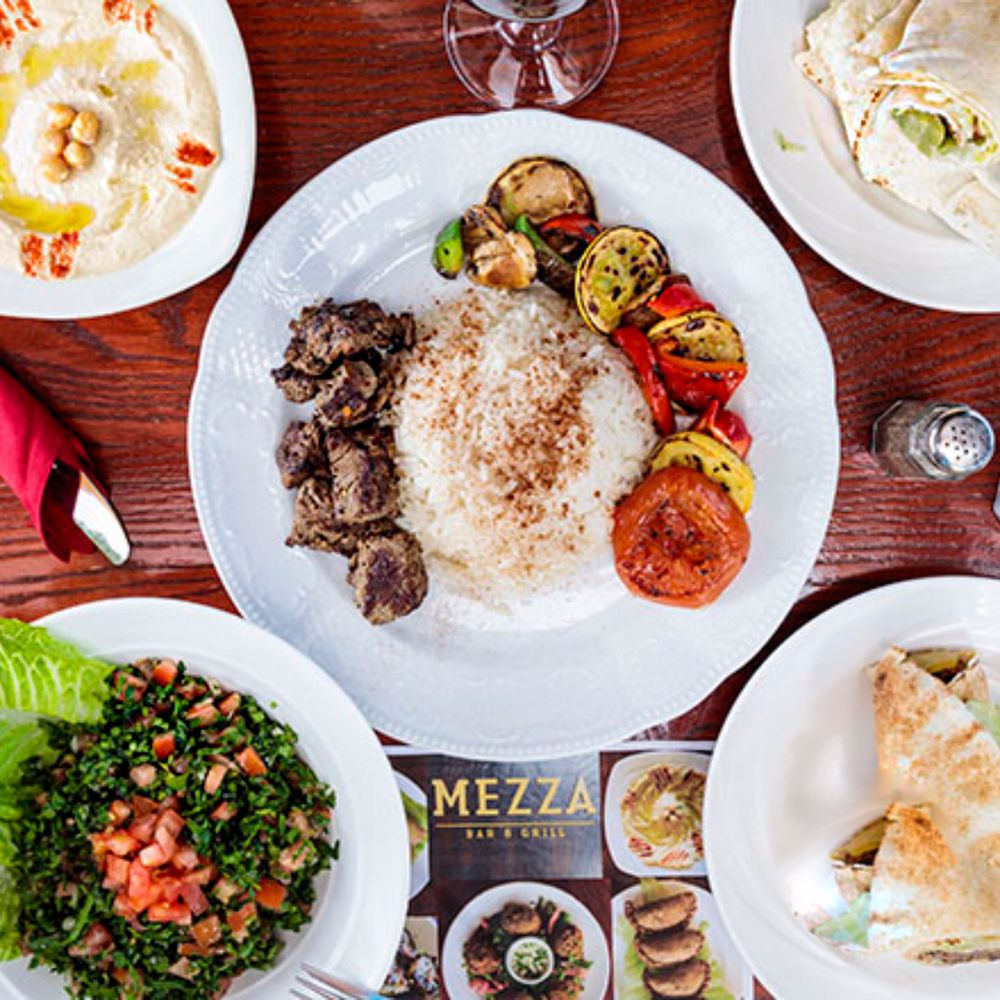 Food from Mezza Bar & Grill