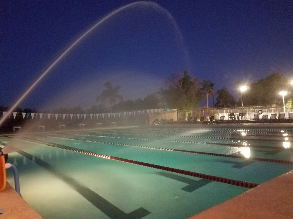 Now THAT is an aerator!! Custom aerator keeps this pool at 78 ...