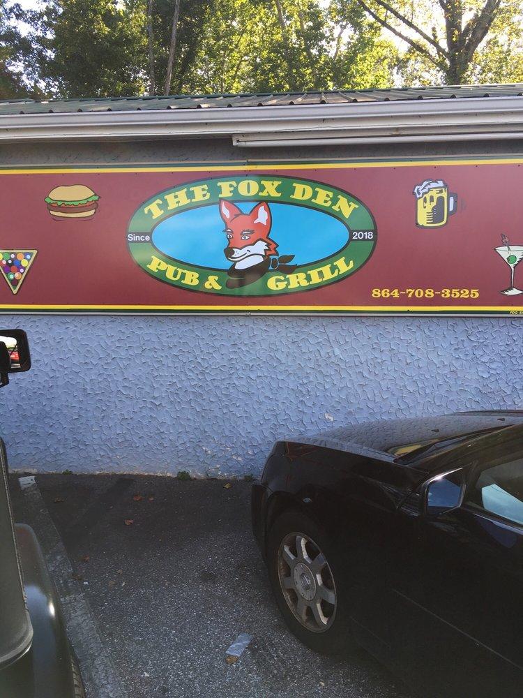 The Fox Den Pub & Grill: 135 Miller Farm Rd, Inman, SC