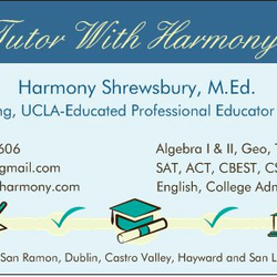Tutor with harmony private tutors castro valley ca yelp photo of tutor with harmony castro valley ca united states business card colourmoves