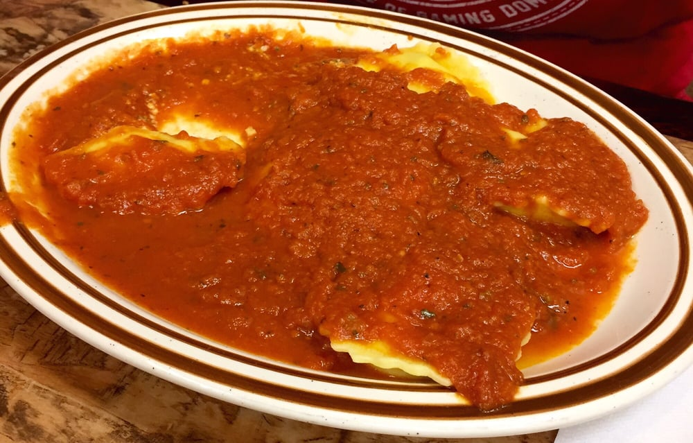 cheese ravioli with some of the best sauce ever yelp