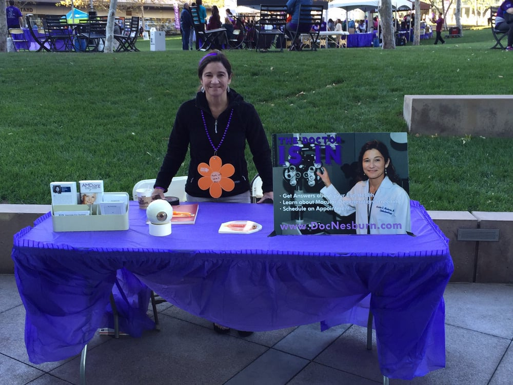 Sitting At My Booth At The Los Angeles Alzeimer S Walk Yelp