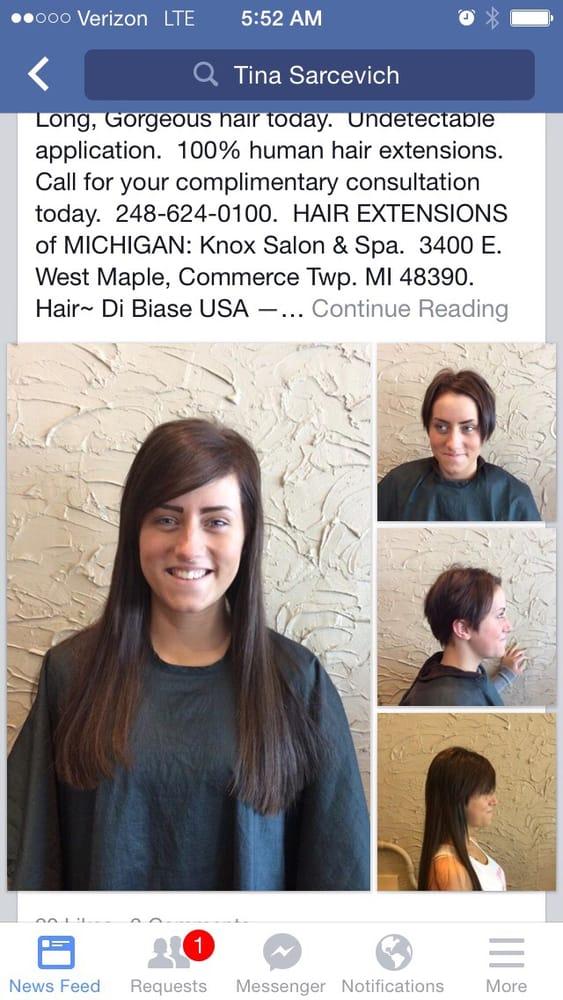 Beforeafter Hair Dreams Hair Extensions West Bloomfieldknox Salon