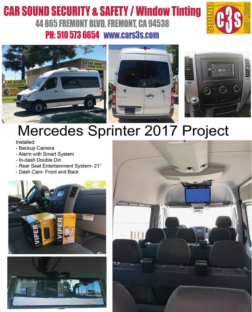 Mercedes Sprinter 2017- Alarm, Back Up Camera, In-Dash, Rear