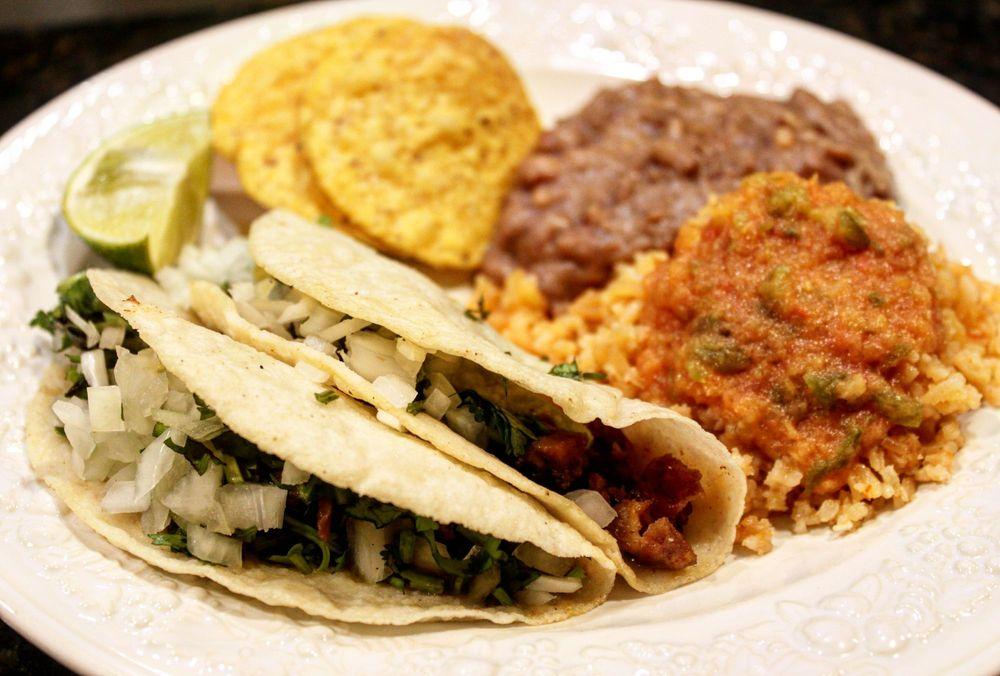 Food from El Rincon