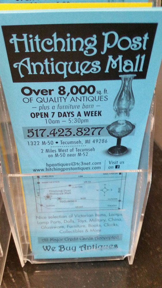 Hitching Post Antiques Mall: 1322 E Monroe Rd, Tecumseh, MI