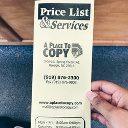 A place to copy printing services 2900 spring forest rd raleigh photo of a place to copy raleigh nc united states malvernweather