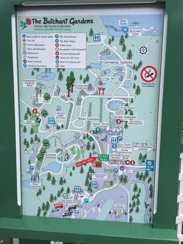 Map For The Butchart Gardens Yelp