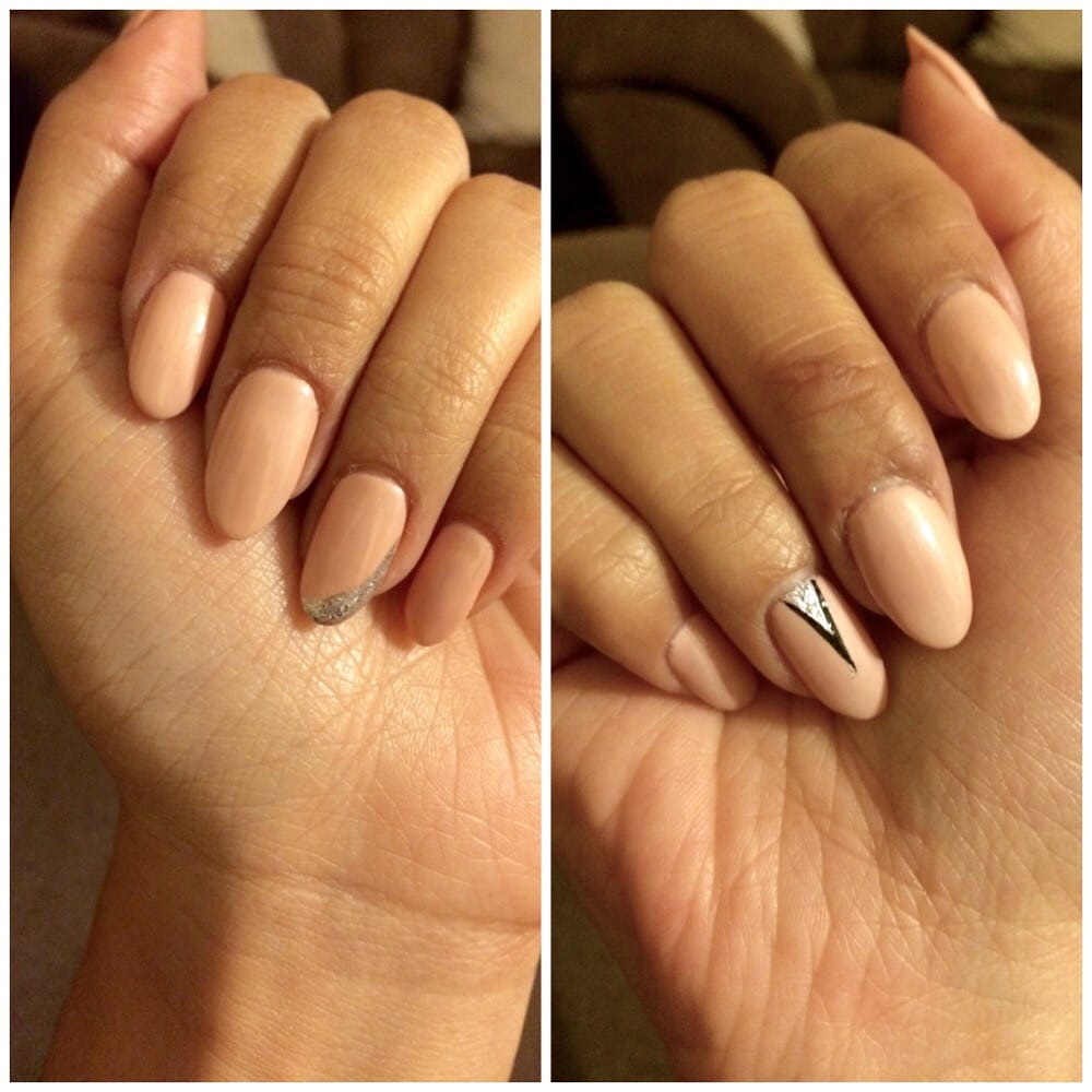 Natural nails with gel polish. Just a few nails have tips or were ...