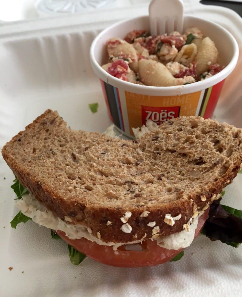 Zoes Kitchen Chicken Salad Sandwich Pick 2 Lunch Combo Half A Chicken Salad Sandwich Minus 2 Bites