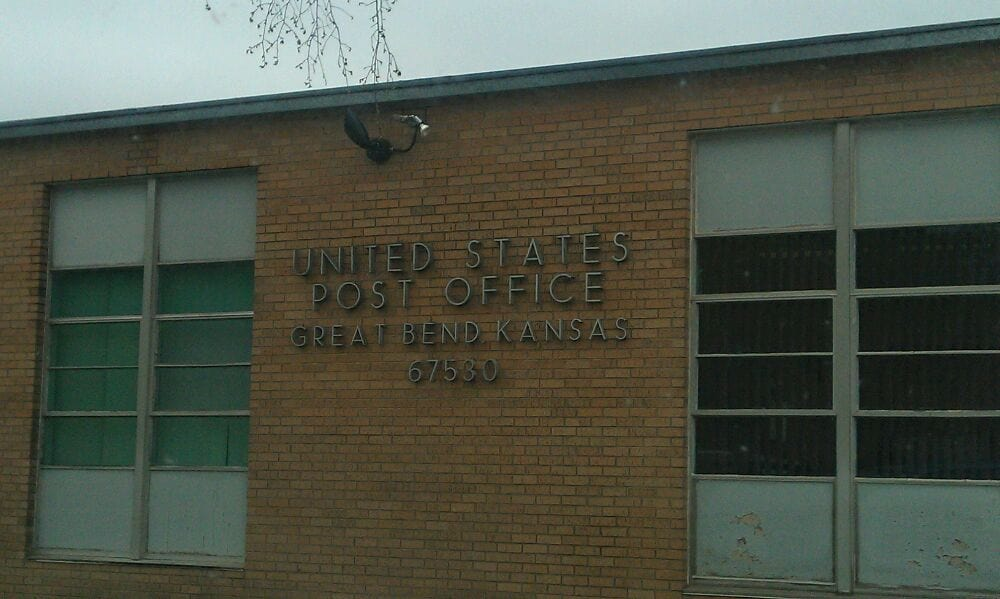 US Post Office: 2100 16th St, Great Bend, KS