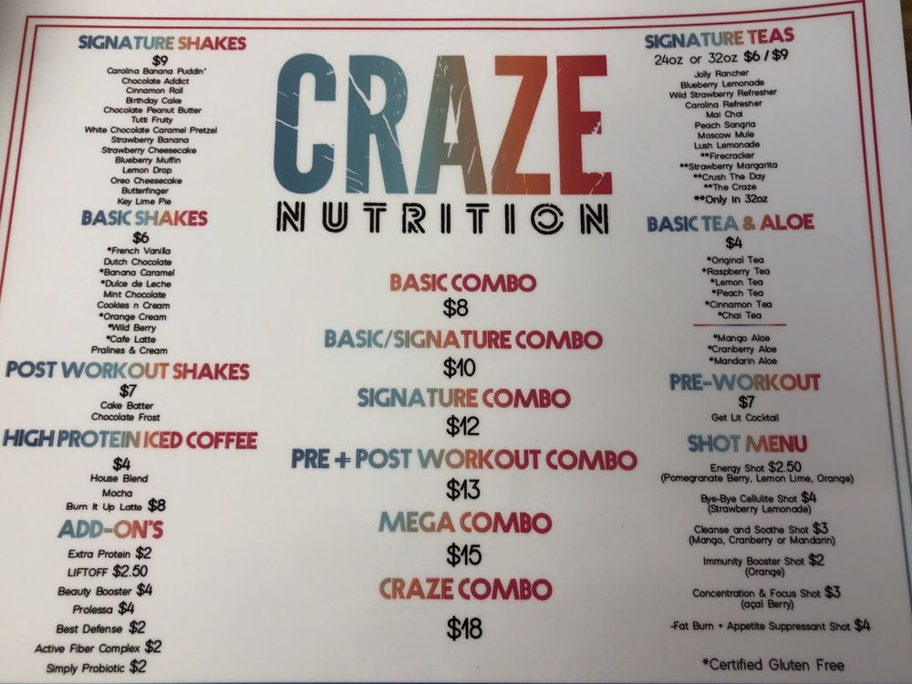 Craze Nutrition: 482 US Hwy 70 W, Havelock, NC