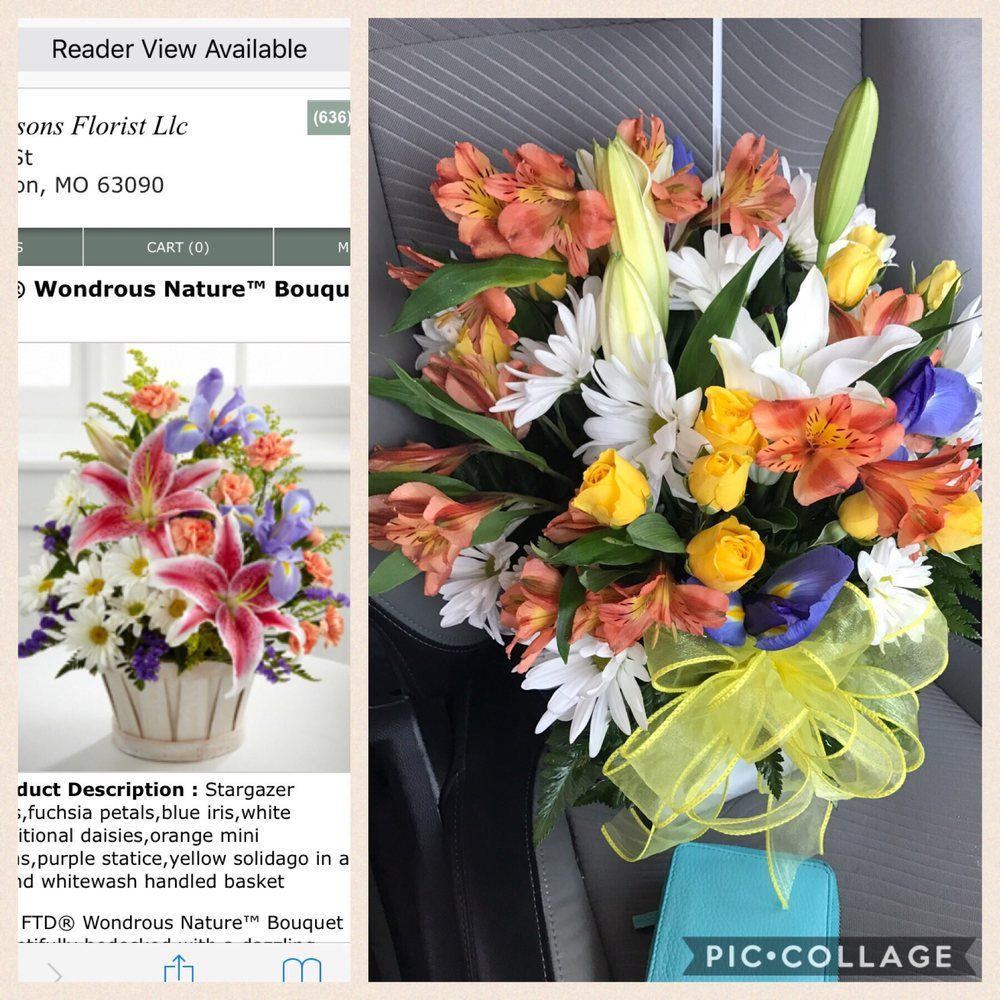 Four Seasons Florist Florists 211 Elm St Washington Mo Phone