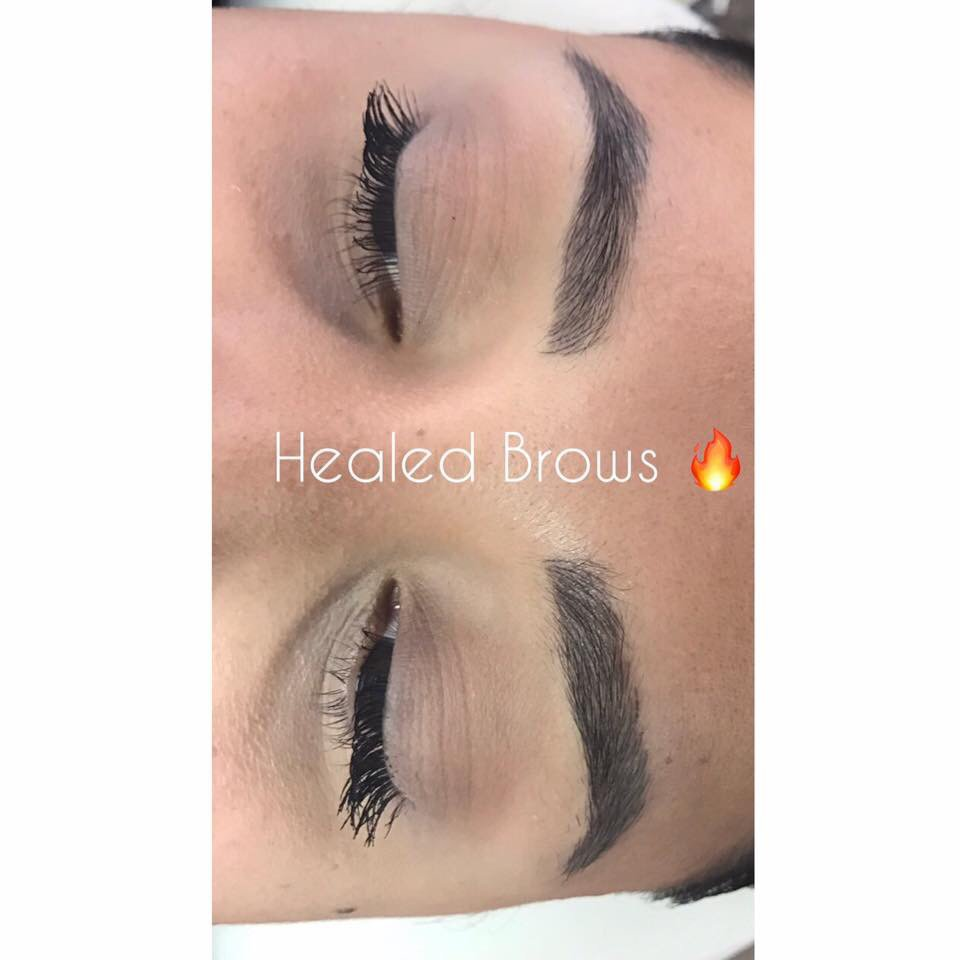 Healed Eyebrows After First Session Of Microbladingyou Can All