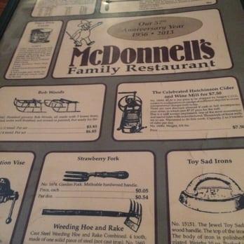 Mcdonnell S Restaurant Carbondale Pa Menu