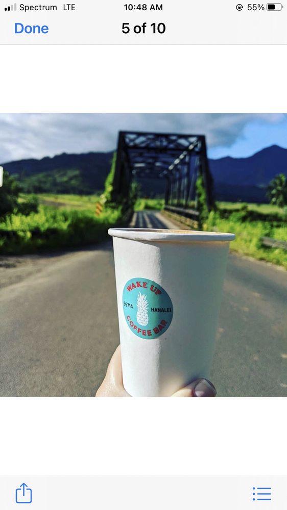 Wake Up Coffee Bar: 5-5144 Kuhio Hwy, Hanalei, HI