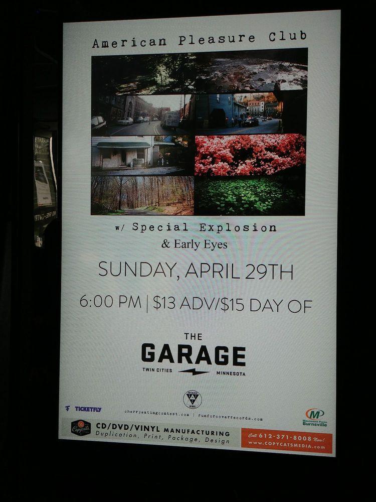 THE GARAGE: 75 Civic Ctr Pkwy, Burnsville, MN
