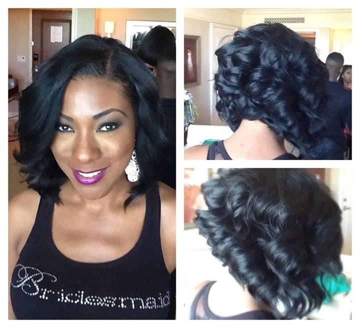 ... Neal - Atlanta, GA, United States. Partial sew-in bob with Indie Remy