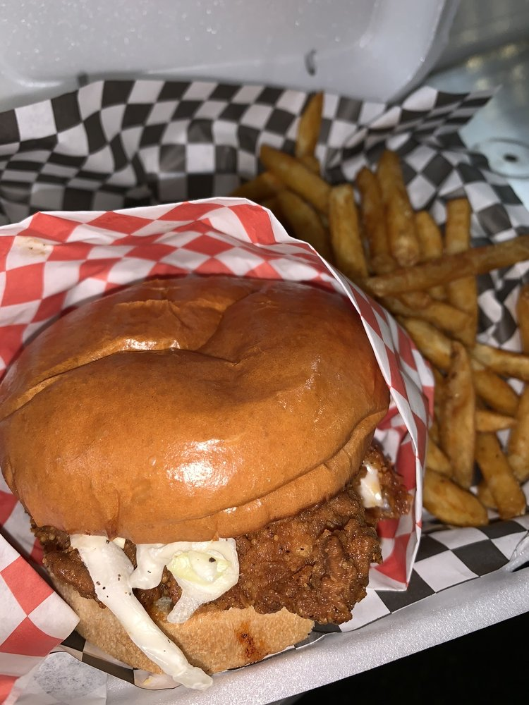Food from Chicky Sandos