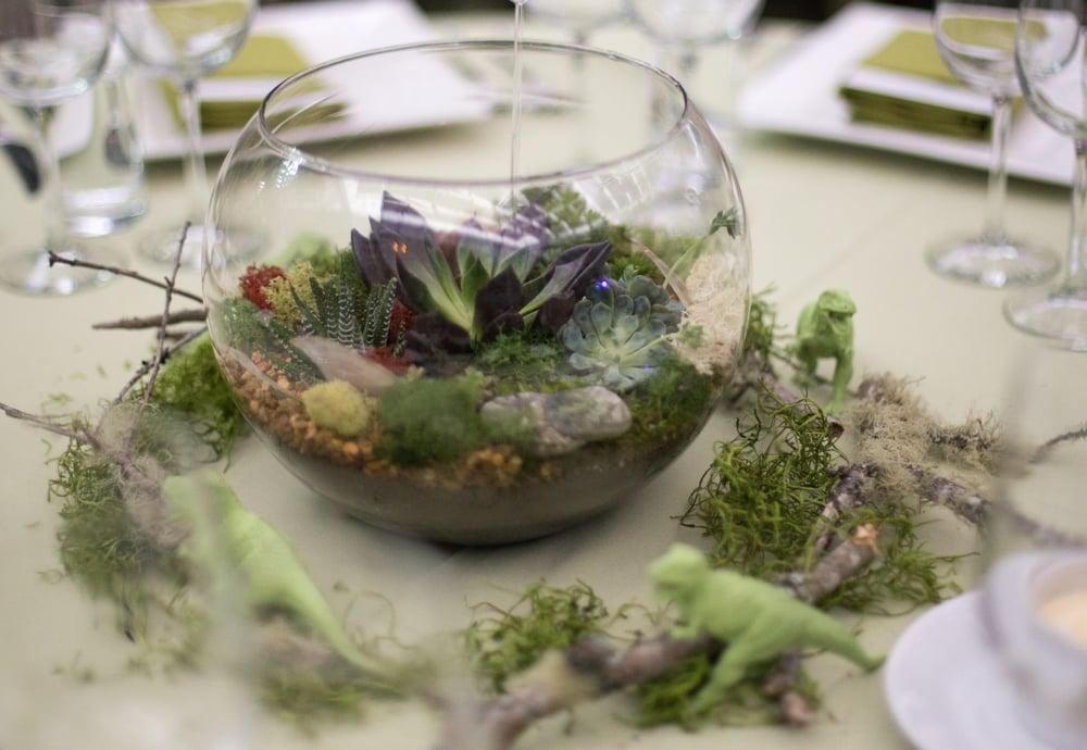 Terrarium Centerpiece For Our Wedding Hiro Included Lichen Branches