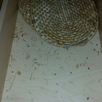 Photo of the mouse droppings in one of the kitchen drawers ...