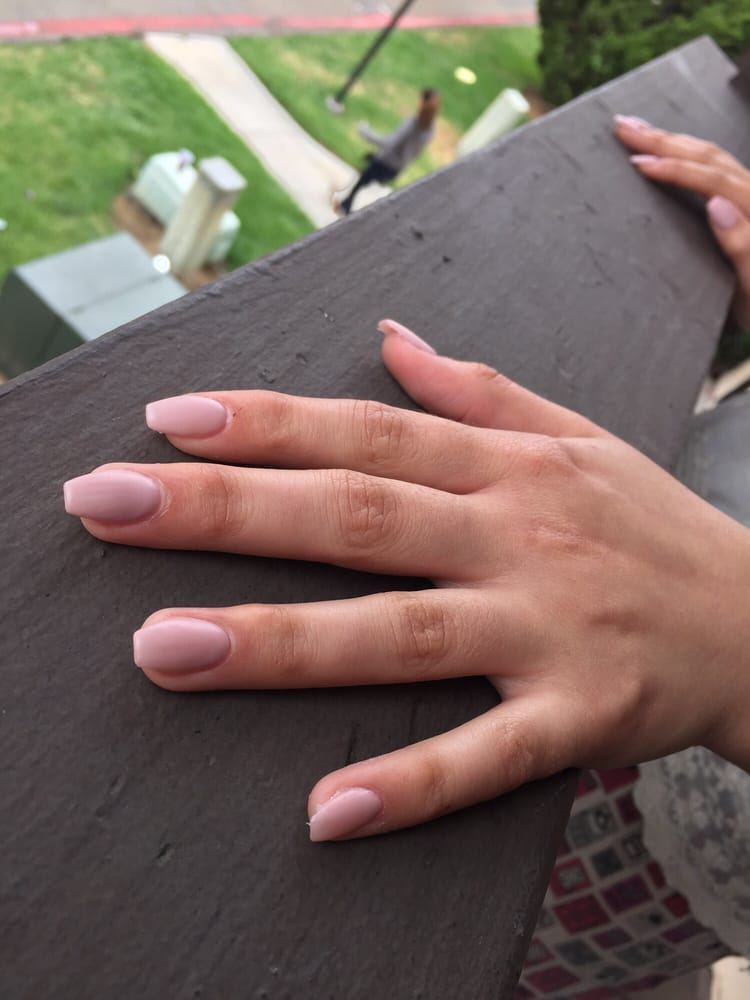 My sisters matte blush pink coffin nails. They loved it - Yelp