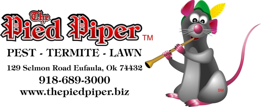Pied Piper Pest, Termite & Lawn Services: 320 North Main St, Eufaula, OK
