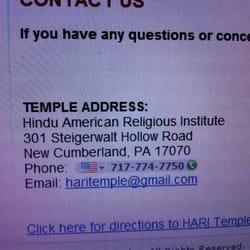Hindu American Religious Institute Hindu Temples 301