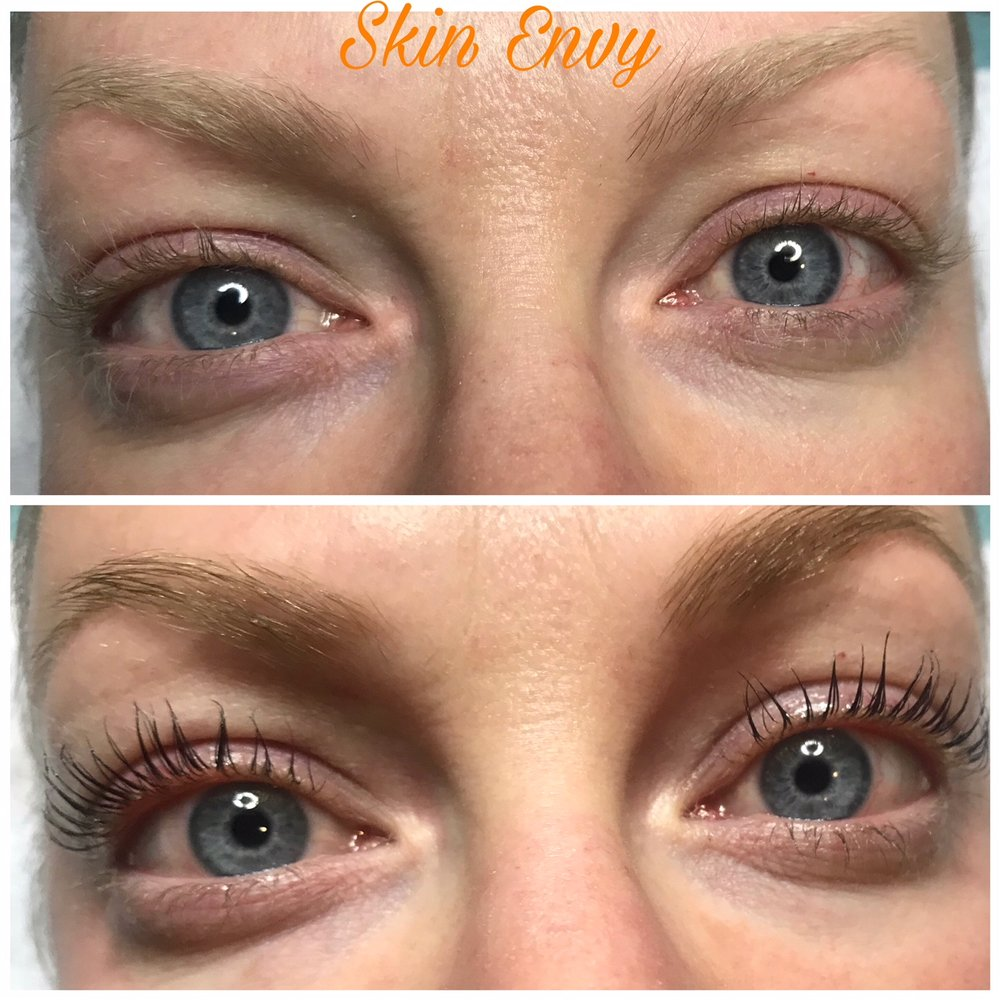 Keratin Lash Lift With Black Lash Tint And And Light Brown Eyebrow