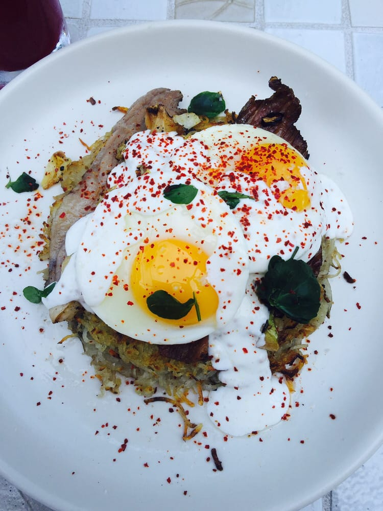 ... - Los Angeles, CA, United States. Potato rosti with corned beef