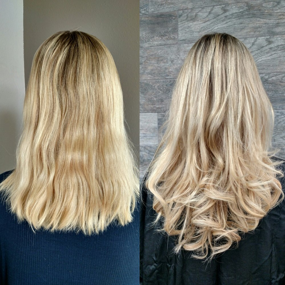 Before And After With Teased Tresses Hair Extensions Free In Salon