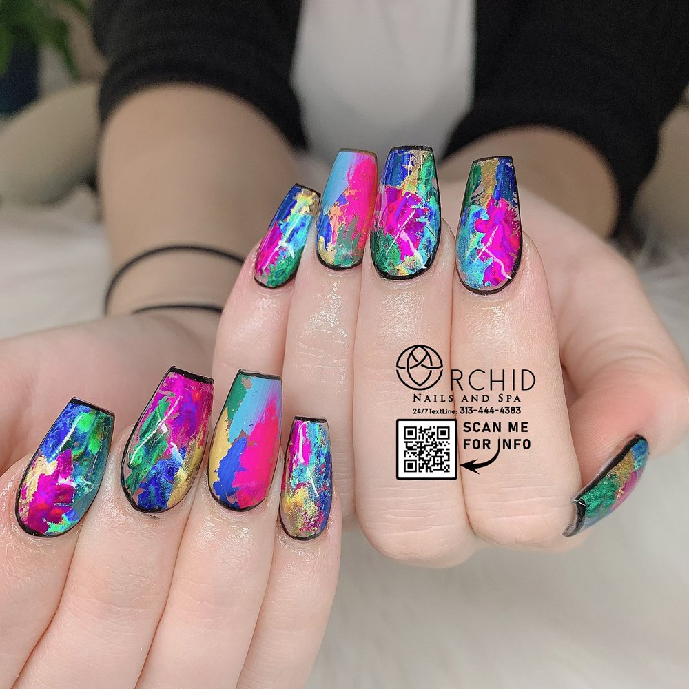 Orchid Nails & Spa: 455 Greenwood Park S Dr, Greenwood, IN
