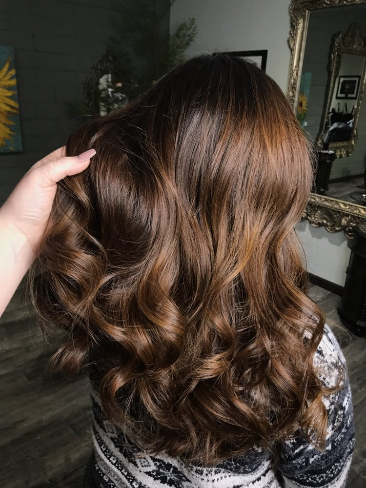 Chocolate Balayage With Face Framing Including A Haircut With Long