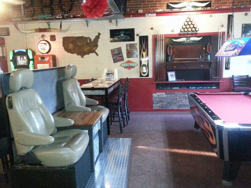 Garage pool table yelp for Table 52 yelp