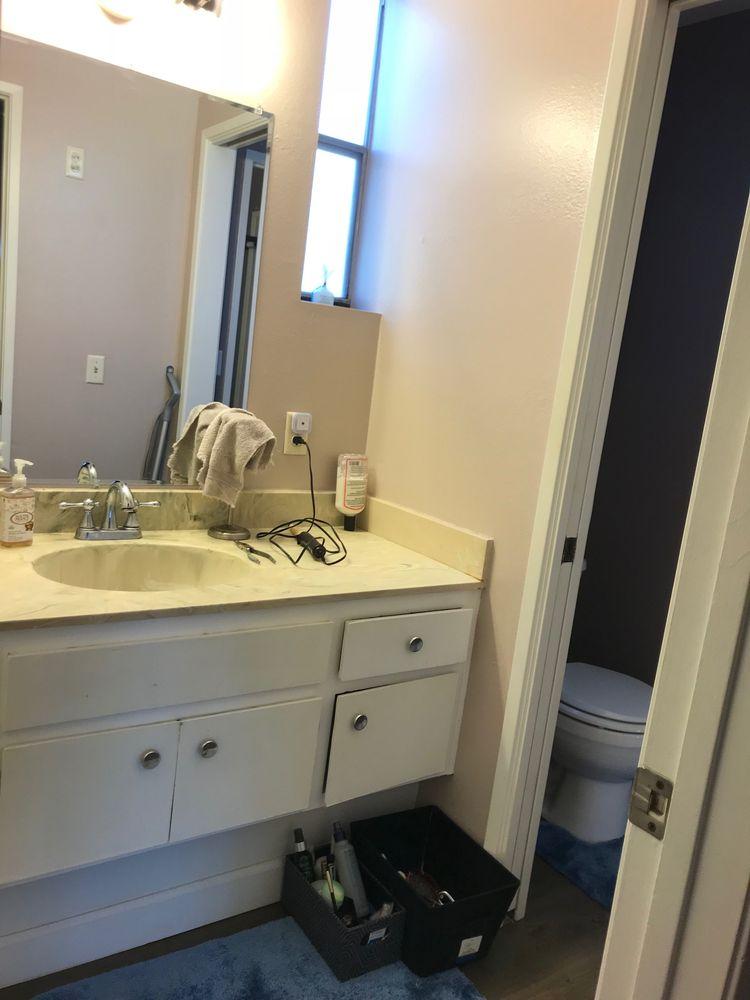 Before Original Vanity And Pocket Door Yelp Classy Bathroom Remodeling San Diego Painting