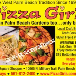 Pizza girls pga 36 photos 65 reviews pizza 10965 n - Delivery dudes palm beach gardens ...