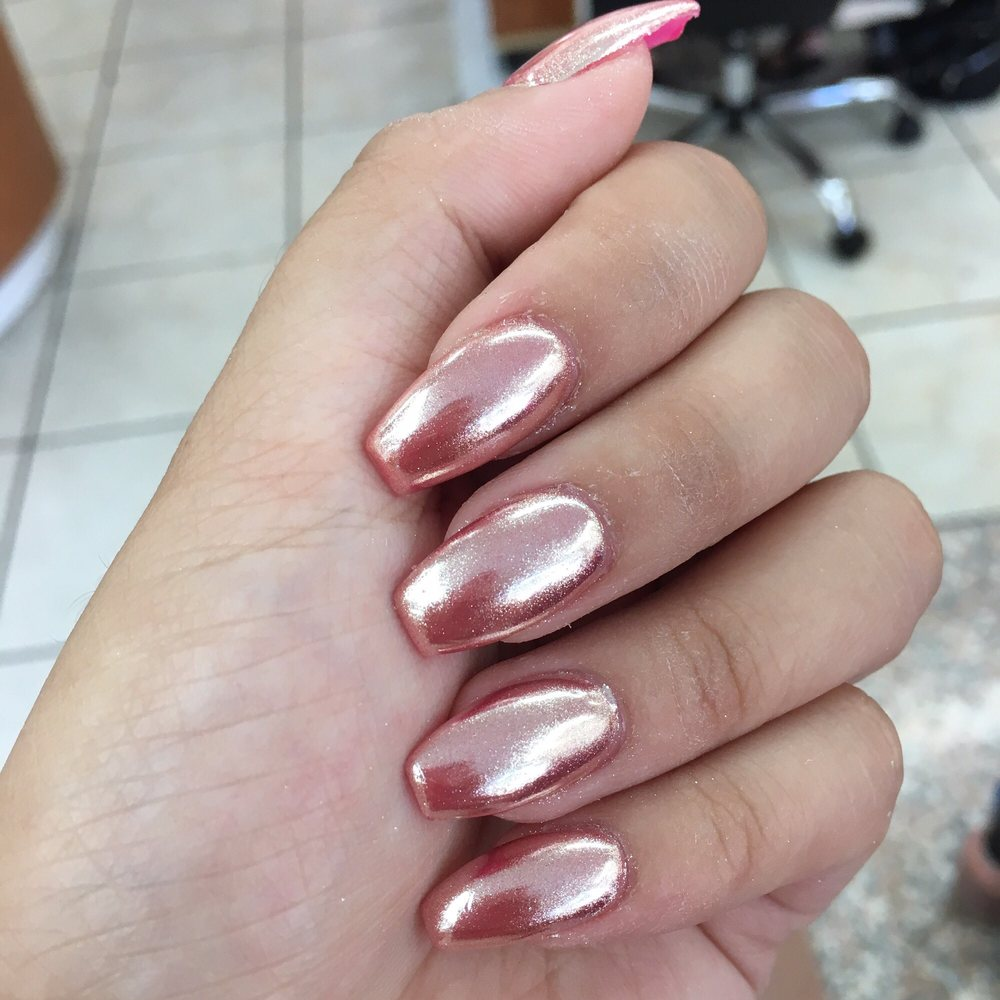 Pink Chrome nails - Yelp