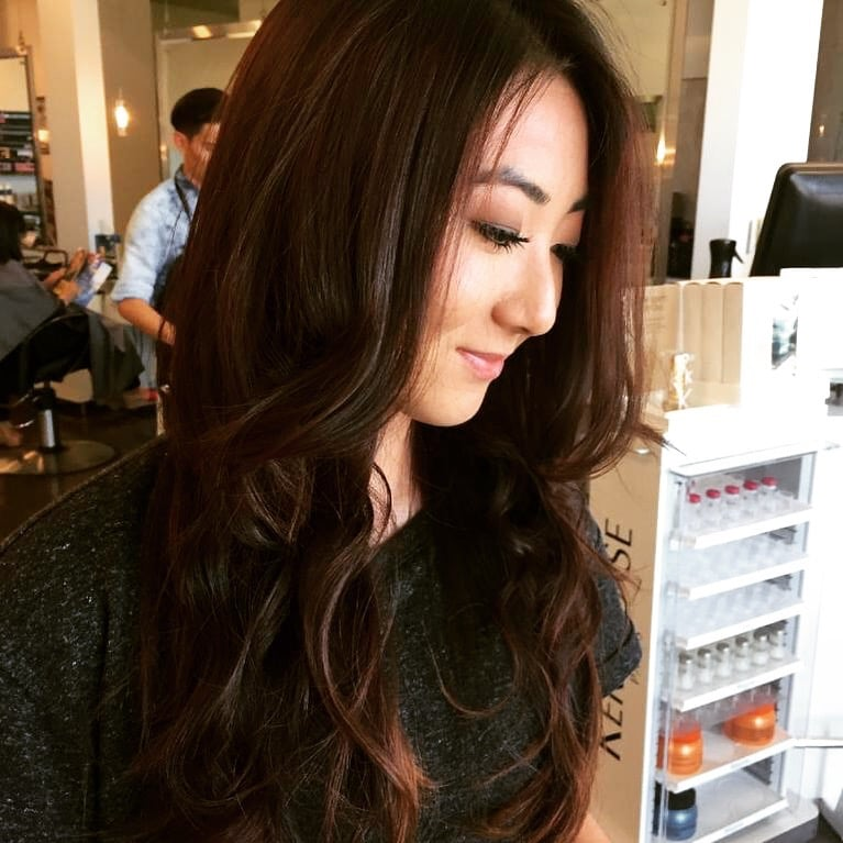 hair by Alan V thicker longer chandelier layers - Yelp