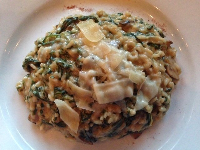 Risotto. As you can see, it's a generous portion. As you cannot see, I ate every morsel of it. I ...