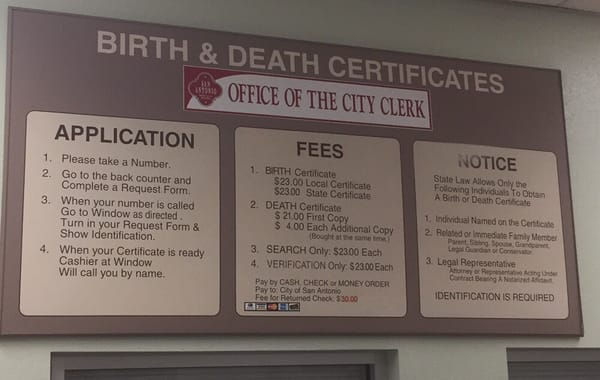 birth certificate office san antonio tx