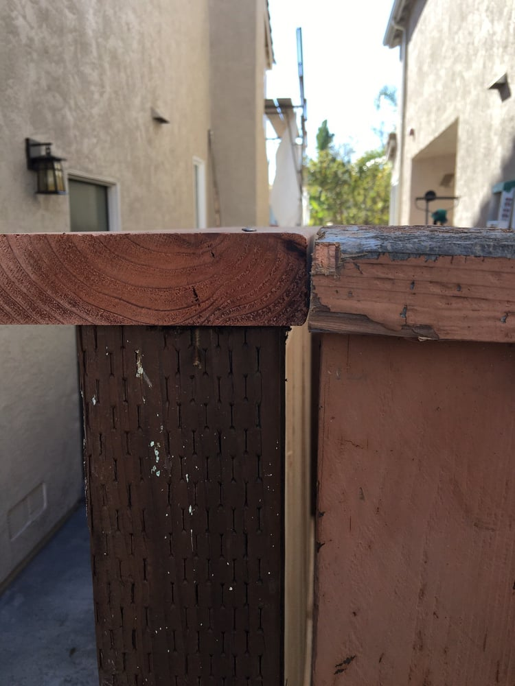 Post Leaning On Neighbors Fence Yelp