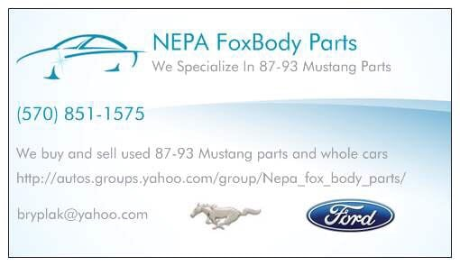 NEPA Foxbody Parts - Auto Parts & Supplies - 236 N 8th St, Bangor