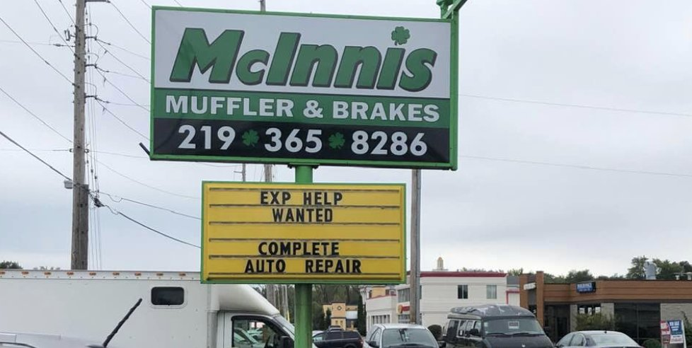 McInnis Muffler and Brake: 2424 US Hwy 41, Schererville, IN