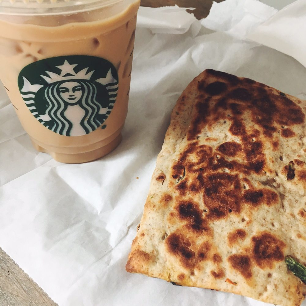 Iced White Chocolate Mocha & Spinach Feta Wrap - Yelp