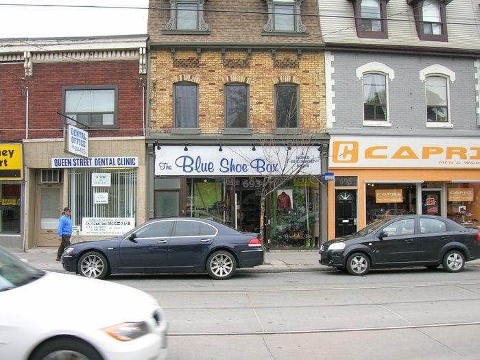 Blue Shoe Box Danforth