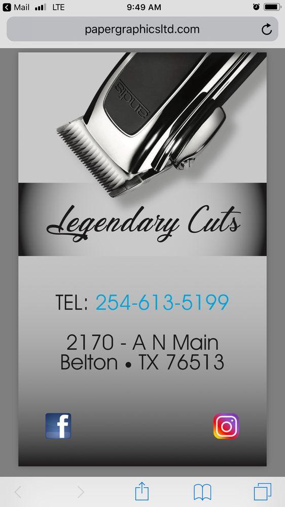 Legendary Cuts: 2170-A North Main St, Belton, TX