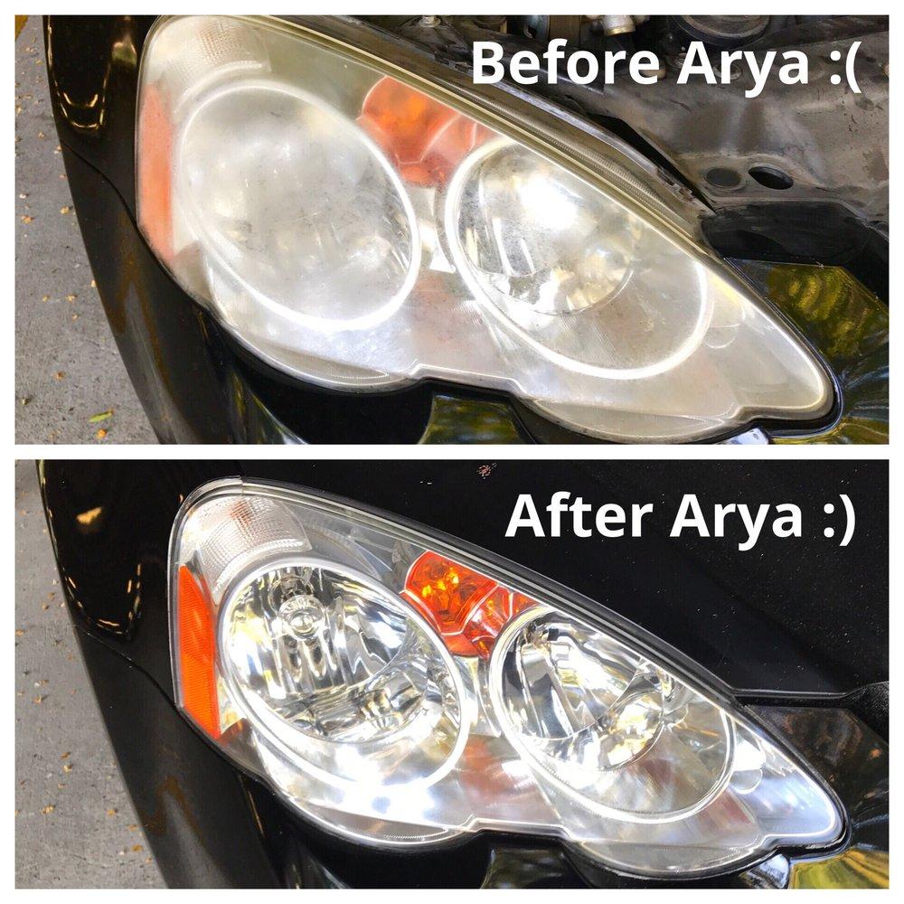 Arya Headlight Restoration
