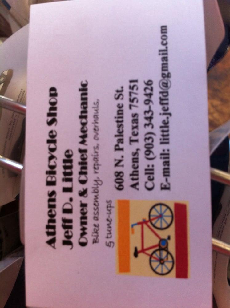 Athens Bicycle Shop: 608 N Palestine St, Athens, TX
