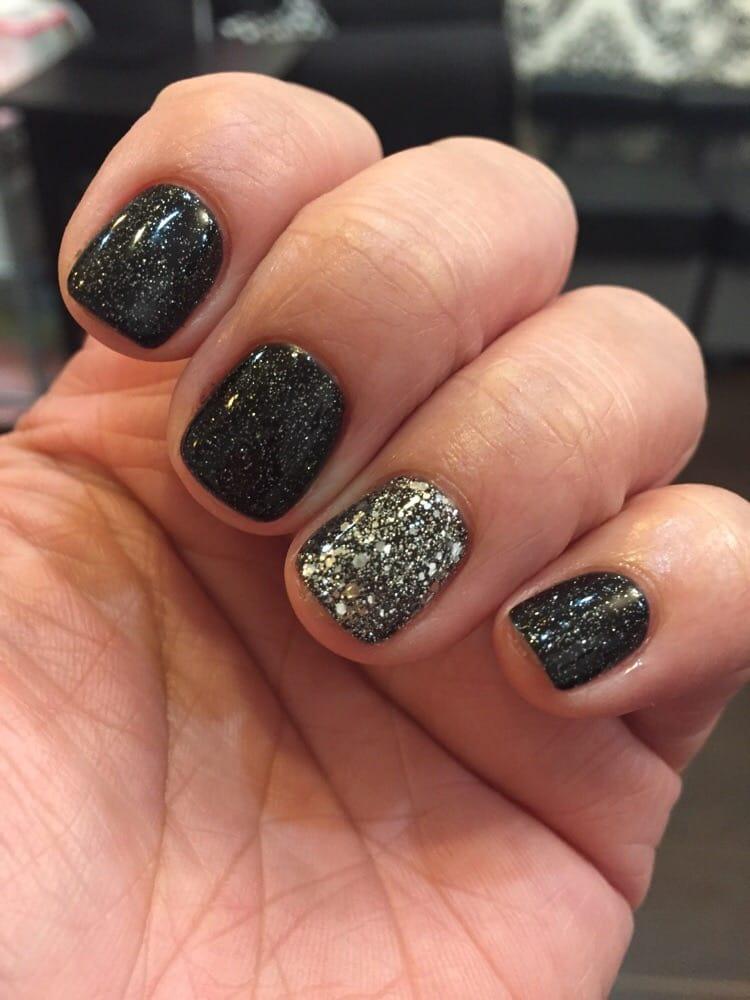 Nail Polish Glitter On Ring Finger