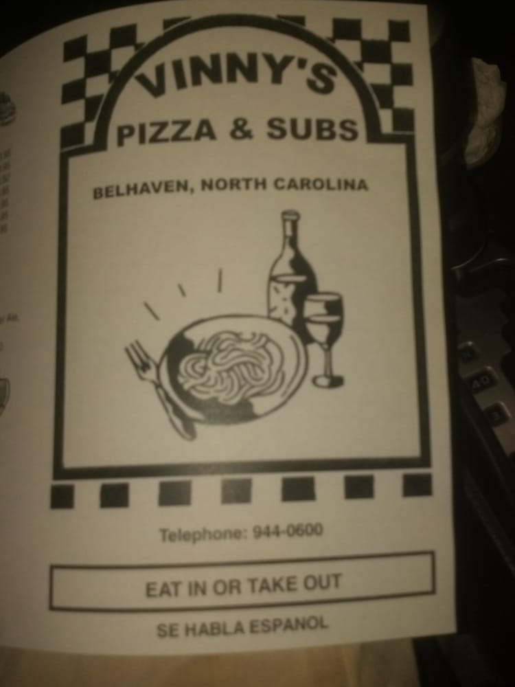 Vinny's Pizza & Subs: 880 Hwy 264, Belhaven, NC